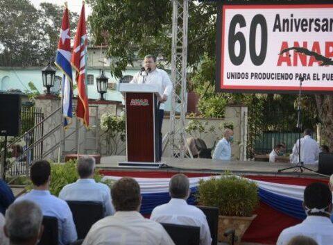 Acto por el aniversario 60 de la constitución de la Asociación Nacional de Agricultores Pequeños.