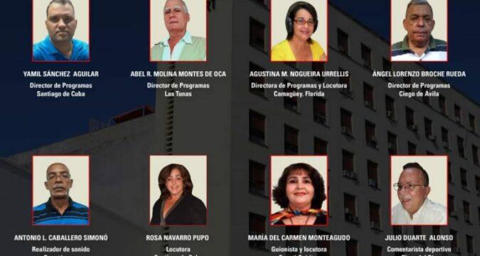 Artistas De Mérito: 2 radialistas santiagueros: Yamil Sánchez Aguilar , de Radio 8SF, Mayarí Arriba, en Segundo Frente; y la locutora de CMKC, Rosa Ileana Navarro Pupo, según dio conocer el ICRT a través de sus sitios web.