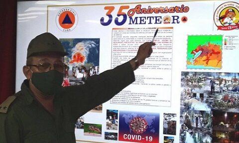Planes de reducción de desastres durante el Meteoro 2021 en Santiago de Cuba