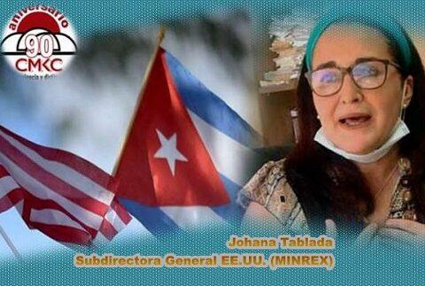 Johana Tablada, Subdirectora General de Estados Unidos del Minrex rechaza injerencia contra Cuba
