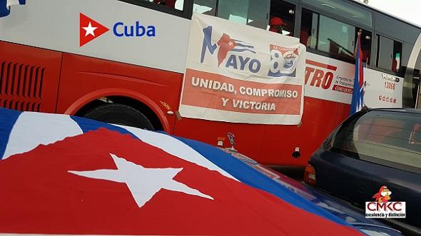 Unidos hacemos Cuba, ¡Viva el Primero de Mayo!. Imagen: Santiago Romero Chan