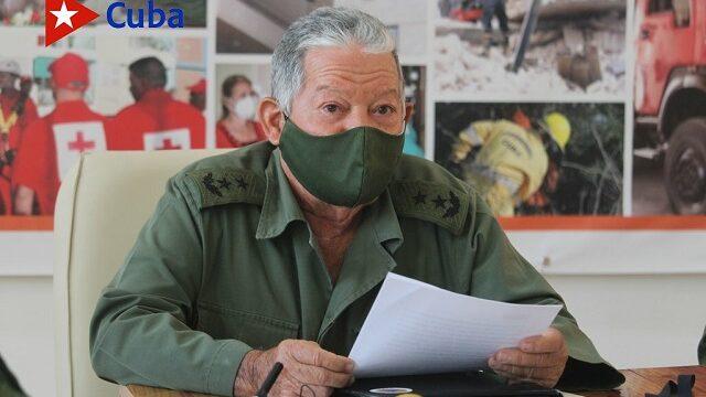 General de División (r) Ramón Pardo Guerra, jefe del Estado Mayor Nacional de la Defensa Civil de Cuba