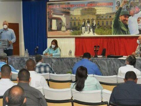 En el municipio especial, el Primer Secretario del Comité Central del Partido Comunista de Cuba y Presidente de la República, Miguel Díaz-Canel Bermúdez