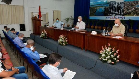 Encabeza Díaz-Canel visita de trabajo a Matanzas. Foto: Estudios Revolución.