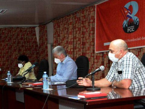 Primer Secretario del Comité Central del Partido y Presidente de la República, Miguel Díaz-Canel Bermúdez, en Sancti Spiritus