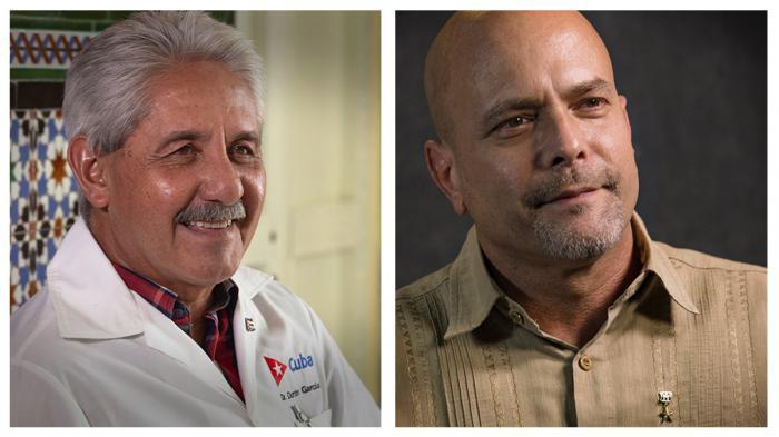 Felicita Díaz-Canel a dos cubanos consagrados a sus respectivas misiones: Gerardo Hernández y Francisco Durán