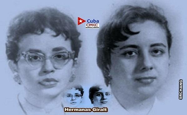 Evocación a las Hermanas Giralt, Jóvenes combatientes revolucionarias. Imagen web: Santiago Romero Chang