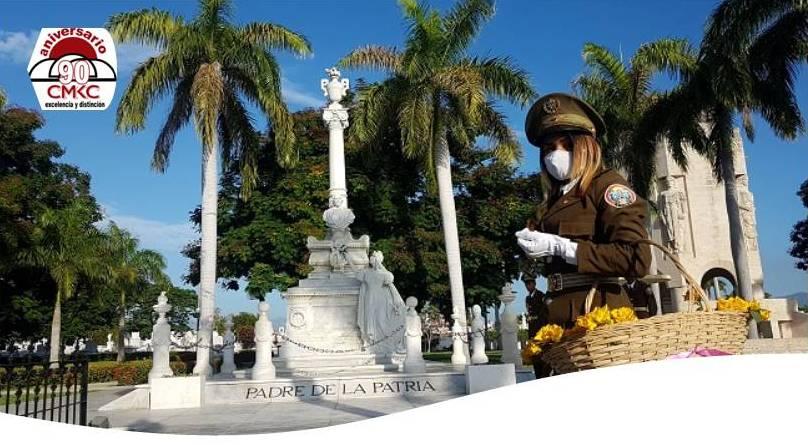 Rinden tributo hoy al Padre de la Patria en el cementerio Santa ifigenia de Santiago de Cuba