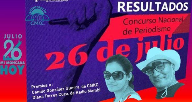 Santiagueros ganadores del Concurso de Periodismo 26 de Julio