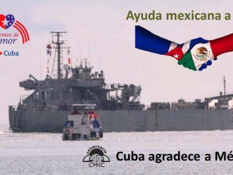 Asistencia humanitaria del Gobierno de México para Cuba
