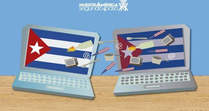 En redes sociales subversión contra Cuba.