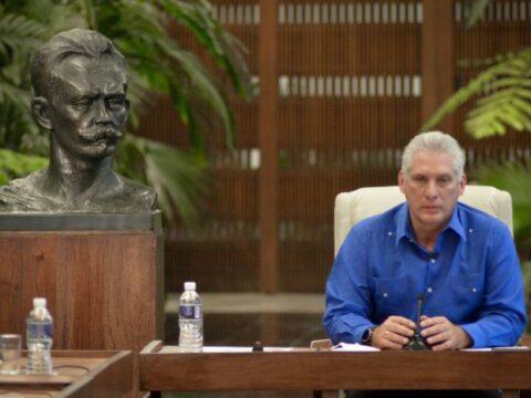 Primer Secretario del Comité Central del Partido y Presidente de la República, Miguel Díaz-Canel Bermúdez