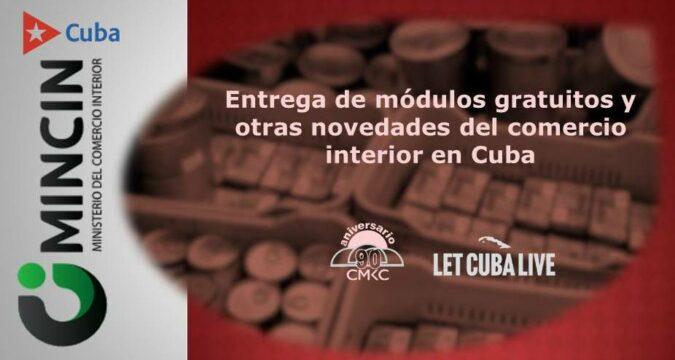 Entrega de módulos gratuitos y otras novedades del comercio interior en Cuba. Foto: Santiago Romero Chang