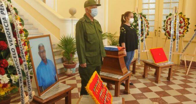 Honras fúnebres del General de Brigada de la Reserva, Marcelo Verdecia Perdomo.