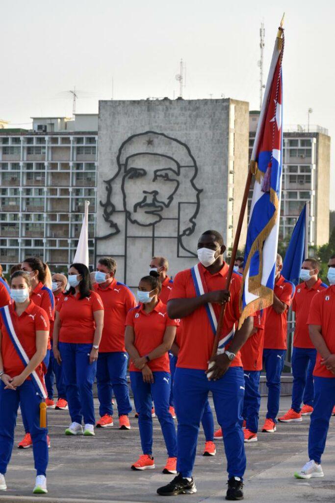 Abanderamiento de la delegación cubana que participará en los XXXII Juegos Olímpicos de Tokio 2020 Foto: Estudios Revolución