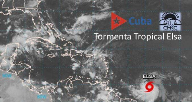 Elsa, tormenta tropical No. 5 al Este Sudeste del Arco de las Antillas Menores en el Caribe