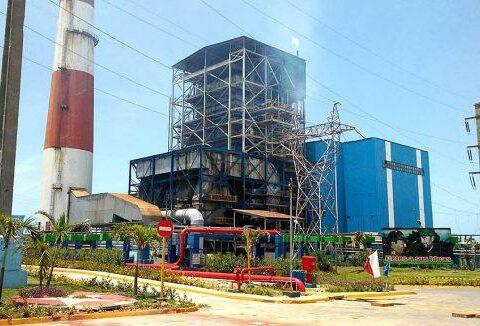 La central termoeléctrica Antonio Guiteras, de Matanzas