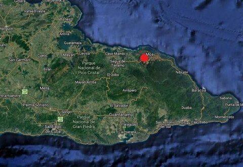 Sismo con magnitud de 3.5 fue perceptible en Moa, Holguín