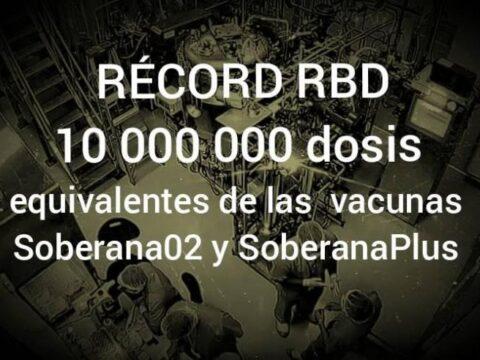 Listo el ingrediente farmacéutico activo fundamental para producir 10 millones de dosis de las vacunas Soberanas