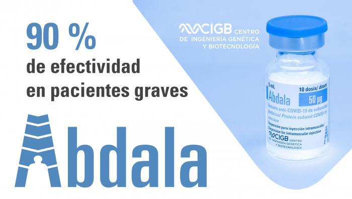 La vacuna Abdala tiene un 90 % de efectividad en pacientes graves, aun con circulación de la cepa Delta