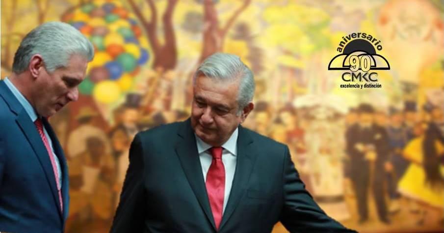 Presidente cubano Díaz Canel en México lindo y querido, por los 211 años del Grito de Dolores