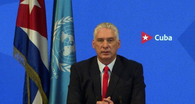 Díaz-Canel: Bajo el liderazgo y con la instigación permanente de los Estados Unidos, se está promoviendo un peligroso cisma internacional