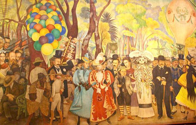 Obra Sueño de una tarde dominical en la Alameda Central, de Diego Rivera