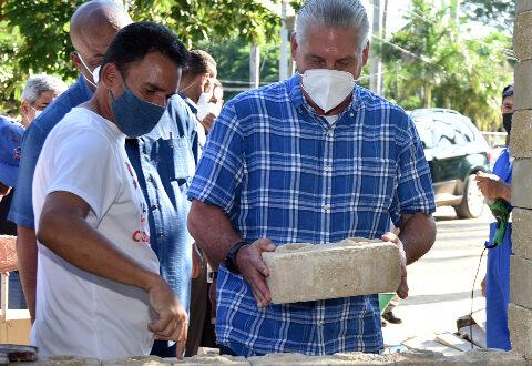 Díaz Canel: Ponerle corazón al barrio es ponerle corazón a Cuba