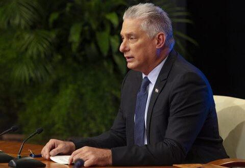 El Presidente cubano, Miguel Díaz-Canel Bermúdez, Primer Secretario del Comité Central del Partido Comunista