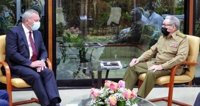 Recibe Raúl a Yuri Borisov, vicepresidente del gobierno de la Federación de Rusia