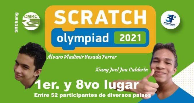 Cubanos Álvaro Vladimir Besada Ferrer, 1er Lugar y Xiang Joel Joa Calderín 8°, en la Olimpiada Internacional de Programación Creativa con Scratch